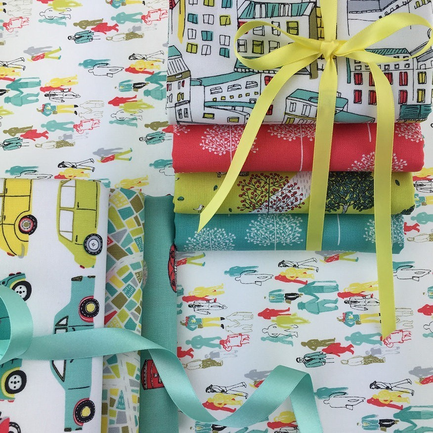 Dashwood Studio Street Life Fabric Bundle 6 x Fat 1/4s