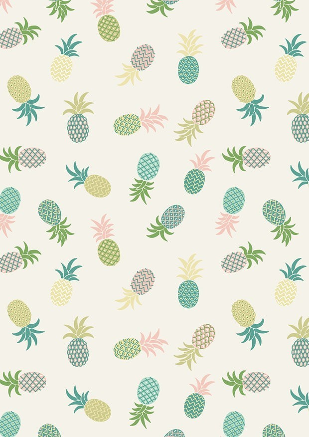 Lewis & Irene - Tropicana A134.1 Pineapples on white