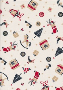 "Rose & Hubble 54"" Wide Christmas Fabric - 5"