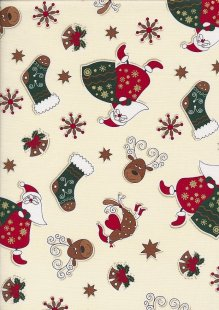 "Rose & Hubble 54"" Wide Christmas Fabric - 12"