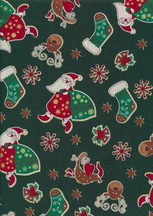 "Rose & Hubble 54"" Wide Christmas Fabric - 36"