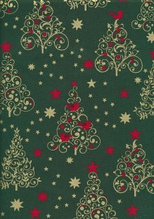 "Rose & Hubble 54"" Wide Christmas Fabric - 37"