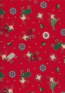 "Rose & Hubble 54"" Wide Christmas Fabric - 48"