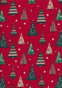 "Rose & Hubble 54"" Wide Christmas Fabric - 49"