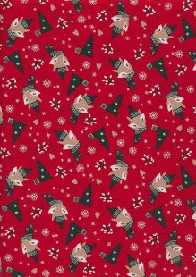 "Rose & Hubble 54"" Wide Christmas Fabric - 52"