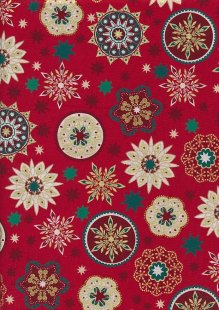 "Rose & Hubble 54"" Wide Christmas Fabric - 63"