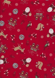 "Rose & Hubble 54"" Wide Christmas Fabric - 68"