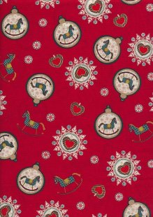 "Rose & Hubble 54"" Wide Christmas Fabric - 69"