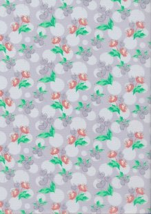 Craft Cotton Spring Is In The Air - Painted Floral Lilac