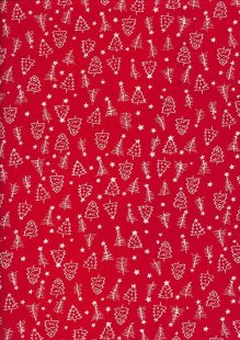 Craft Cotton Co Christmas - Chritmas Trees Red