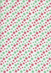 Craft Cotton Co Christmas - Multi Snowflake White