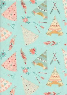 Craft Cotton Co - Teepee Turquoise