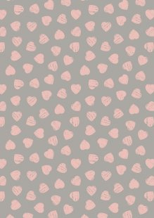 Lewis & Irene - Dove House A168.3 - Pink hearts on dove