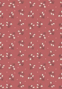 Lewis & Irene - Enchanted Forest A186.2 - Snowdrops On Dusky Red