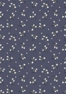 Lewis & Irene - Enchanted Forest A186.3 - Snowdrops On Midnight Blue