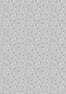Lewis & Irene - Flo's Little Florals FLO1.1 - Grey Tiny Flower
