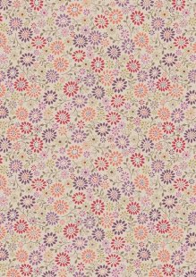 Lewis & Irene - Flo's Little Florals FLO2.3 - All Around Daisy On Tea