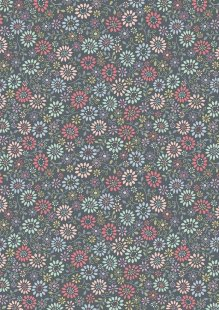Lewis & Irene - Flo's Little Florals FLO2.4 - All Around Daisy On Dark