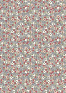 Lewis & Irene - Flo's Little Florals FLO5.1 - Ditzy On Grey