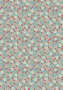 Lewis & Irene - Flo's Little Florals FLO5.2 - Ditzy On Sage
