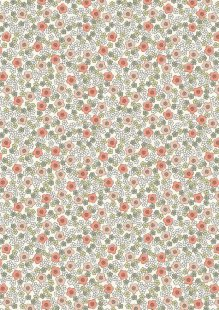 Lewis & Irene - Flo's Little Florals FLO5.4 - Ditzy On White