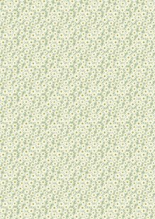 Lewis & Irene - Flo's Little Florals FLO6.2 - Daisies On Green