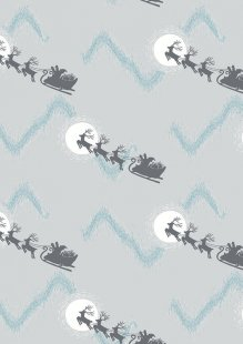Lewis & Irene - Northern Lights C1.1 Santa's sleigh on silver (Metallic)