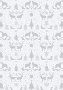 Lewis & Irene - Northern Lights C5.1 Arctic animals on white (Metallic)