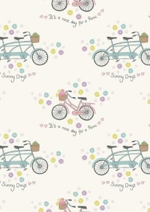 Lewis & Irene - Picnic In The Park A152.1 Bicycles on white