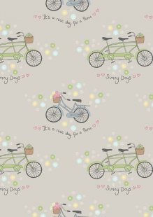 Lewis & Irene - Picnic In The Park A152.3 Bicycles on grey