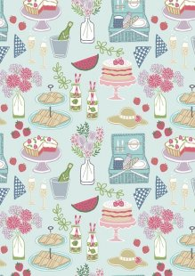 Lewis & Irene - Picnic In The Park A153.2 Picnic on light blue