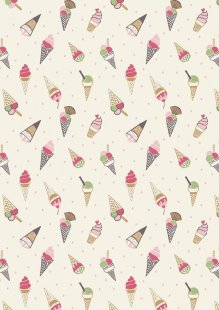 Lewis & Irene - Picnic In The Park A154.1 Ice cream cones on white