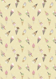 Lewis & Irene - Picnic In The Park A154.2 Ice cream cones on yellow