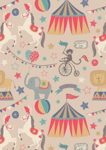 Lewis & Irene - Vintage Circus A141.3 The big top natural