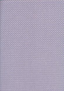 Sevenberry Japanese Ditsy Heirloom - Purple Diamonds & Crosses On White