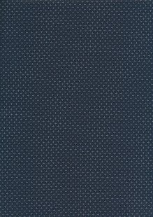 Sevenberry Japanese Ditsy Heirloom - White Diamonds & Crosses On Navy On Blue