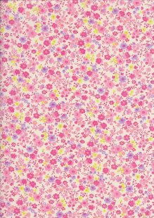 Sevenberry Japanese Ditsy Floral - Flower Bed Pink