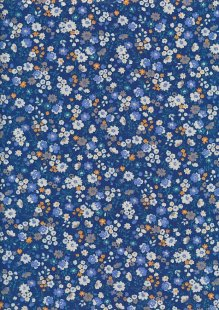 Sevenberry Japanese Ditsy Floral - Flower Bed Blue