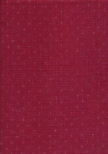 Sevenberry Japanese Linen Look Cotton - Plain Wine With Cross