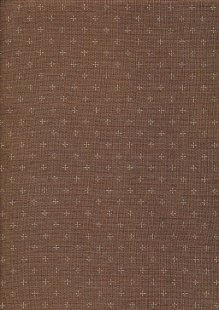 Sevenberry Japanese Linen Look Cotton - Plain Brown With Cross