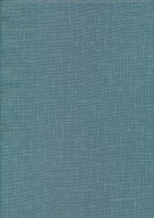 Sevenberry Japanese Linen Look Cotton - Plain Teal With Cross