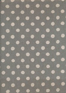 Sevenberry Japanese Linen Look Cotton - Plain Cream Dot On Grey