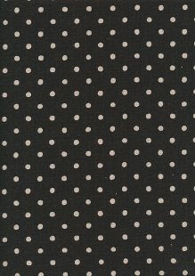 Sevenberry Japanese Linen Look Cotton - Plain Cream Spot On Charcoal
