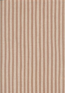 Sevenberry Japanese Linen Look Cotton - Plain Dusty Pink Stripe On Cream