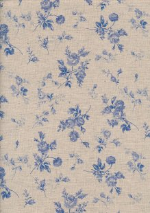 Sevenberry Japanese Linen Look Cotton - Plain Purple Rose