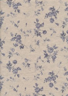 Sevenberry Japanese Linen Look Cotton - Plain Grey Rose