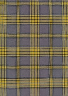 Fine Cotton Check -Yellow & Grey