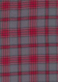 Fine Cotton Check -Red & Grey